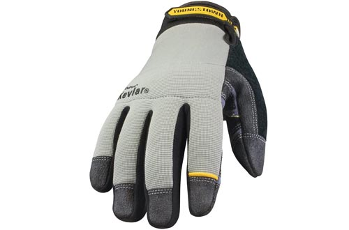 Youngstown Glove 05-3080-70-L General Utility Lined with KEVLAR Glove Large, Gray