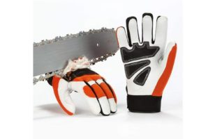 Vgo Chainsaw Work Gloves Saw Protection on Left Hand Back(1Pair,Size XL,Orange,GA8912)