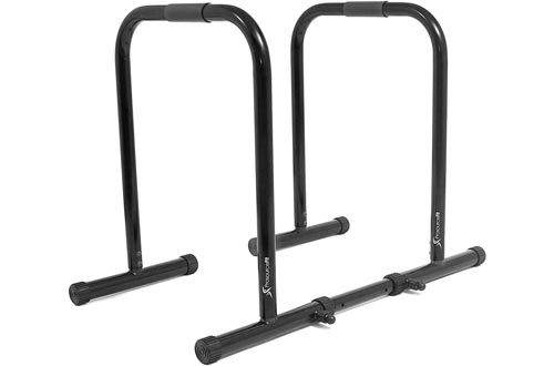 ProsourceFit Dip Stand Station, Heavy Duty Ultimate Body Press Bar with Safety Connector for Tricep Dips