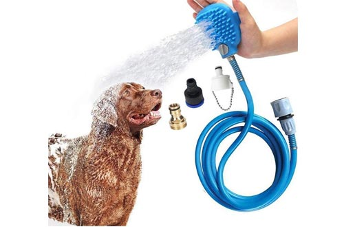 Thinkfly Pet Bathing Tool   Dog Bathing Tool Pet Shower Sprayer & Pet Bath Brush 2-in-1, Dog Cat Horse Grooming