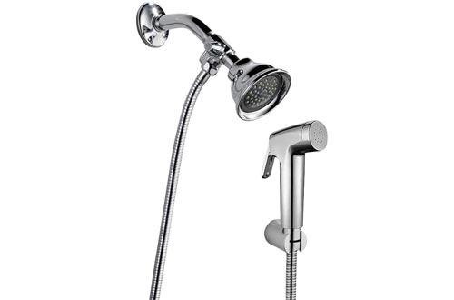 REEGE Dog Shower Sprayer Attachment Set for Pet Bathing and Dog Washing-Bathroom Sprayer Shower Arm Diverter with Hand Shower Head and Hose Sprayer Head Kit