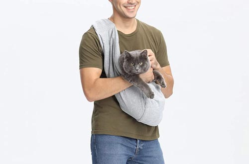 Cuby Dog and Cat Sling Carrier – Hands Free Reversible Pet Papoose Bag - Adjustable - Soft Pouch and Tote Design – Suitable for Puppy, Small Dogs, and Cats for Outdoor Travel