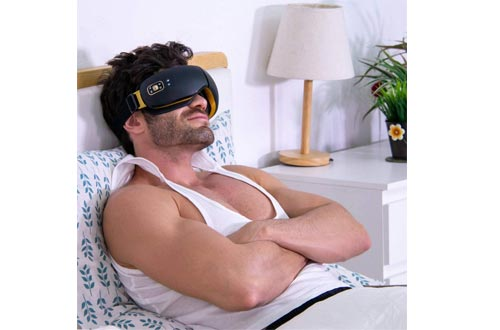 OSITO Rechargeable Eye Massager with Heat for Dry Eye with Vibration to Refresh Mind and Music Air Pressure
