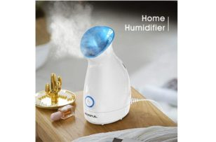 La'prado Upgraded Nano Ionic Facial Steamer Warm Mist Humidifier Atomizer Humidifier Moisturizing Face Spa Steamer Blackhead Remover Kit
