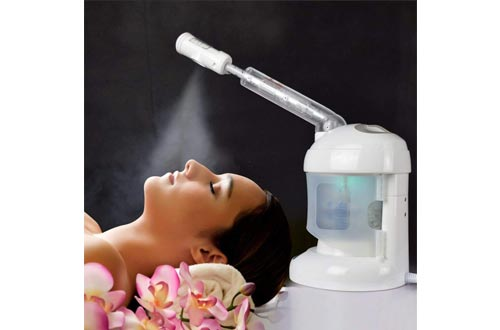 Facial Steamer, with Extendable Arm Ozone Table Top Mini Spa Face Steamer Design For Personal Care Use At Home or Salon