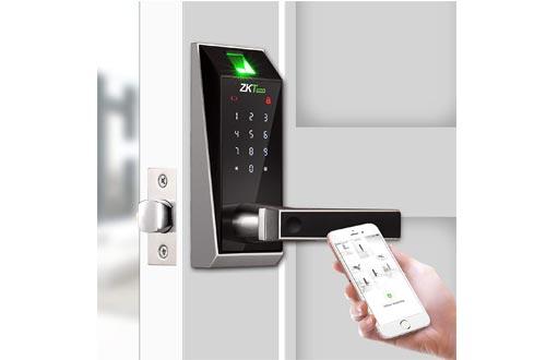 AL20B Keyless Entry Door Lock Deadbolt, Bluetooth Biometric Lever Lock with Fingerprint Electronic Keypad Digital Smart Lock for Home