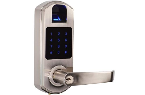 SCYAN X9 Fingerprint Touchscreen Door Lock, Non-Handed, Satin Nickel, X9SN