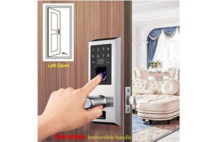 AIGURD Fingerprint Door Lock, Stainless Steel Keyless Entry Door Lock, Biometric Door Lock, Keyless Door Lock, Keypad Door Lock, Digital Smart Door Lock, Keypad Entry Door Lock(Left-Handle
