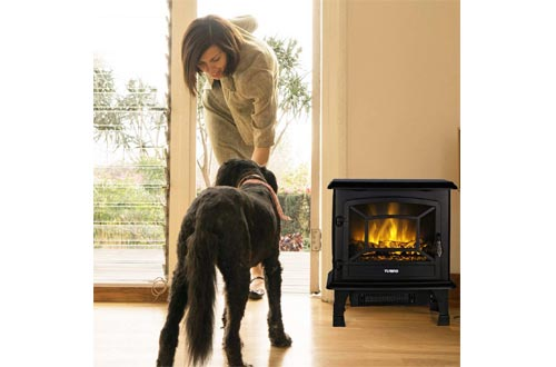 TURBRO Suburbs TS20 Electric Fireplace Heater, Freestanding Fireplace Stove with Realistic Dancing Flame Effect