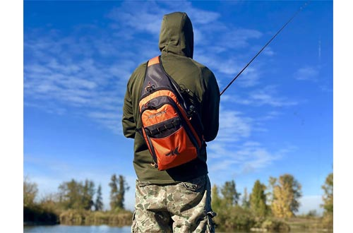 KastKing Pond Hopper Fishing Sling Tackle Storage Bag – Lightweight Sling Fishing Backpack - Sling Tool Bag for Fishing Hiking Hunting Camping