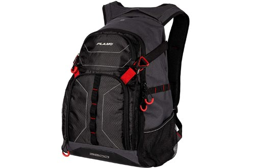 Plano E-Series 3600 Tackle Backpack, Includes Three 3600 Tackle Storage Stows, Black