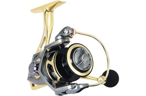 ANGLER DREAM Bumblebee Fishing Reels 10BB 5.2:1 Ratio Spinning Fishing Reel Saltwater Freshwater Fish Reels 2500 3000 4000 5000 Series Reel