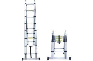 Senrob Aluminum Telescopic Extension Ladder,16.5 ft Extendable Folding Multi-Purpose Ladder Max 330 lbs. Capacity
