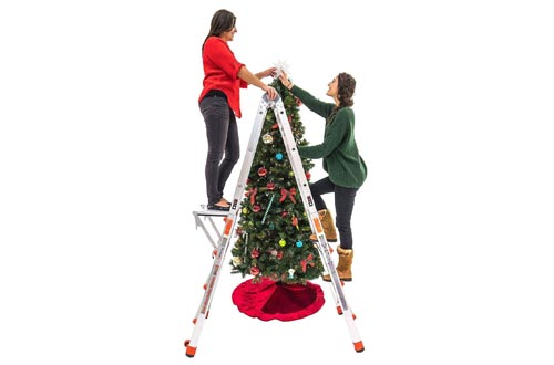 Little Giant Velocity 17 Foot Aluminum Adjustable Folding Ladder & Work Platform