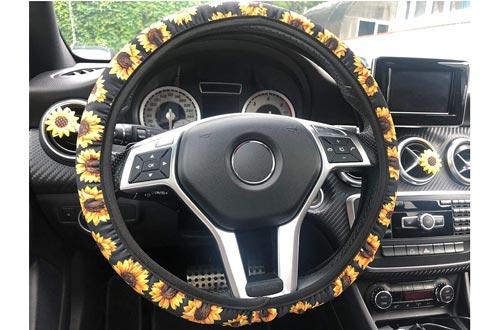 Zadin Sunflower Steering Wheel Cover for Women