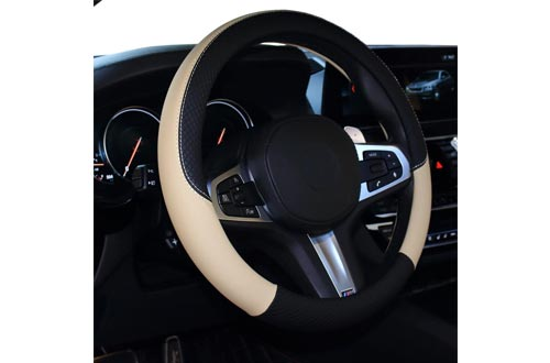 SHIAWASENA Car Steering Wheel Cover, Leather