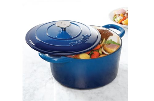 Crock Pot Artisan 7 Quart Enameled Cast Iron Round Dutch Oven