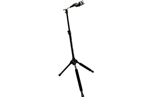 Ultimate Support GS-1000 PRO Genesis Series Guitar Stand with Locking Legs and Self-closing Yoke Security Gate