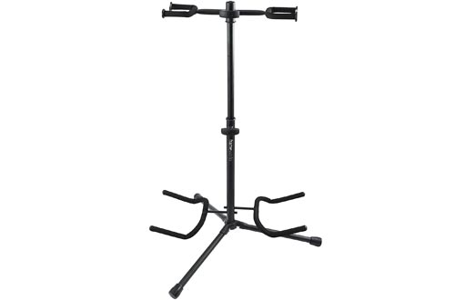Gator Frameworks Adjustable Double Guitar Stand; Holds Two Electric or Acoustic Guitars (GFW-GTR-2000)