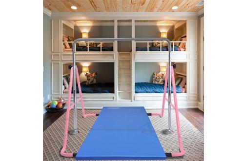 GT Sports Gymnastics Bars Expandable Junior Training Bar Folding Horizontal Bars for Kids