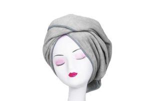 Microfiber Towel for Curly Hair Large Anti Frizz Super Absorbent Hair Towel 23.6''x47'' Fast Hair Drying Towel Hair Wrap fo Bath Spa Facial Makeup, Gray