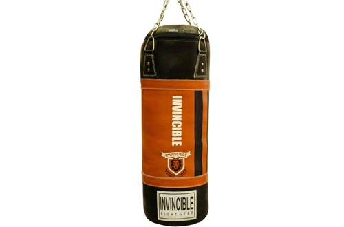 Amber Fight Gear Leather Heavy Bag for Boxing MMA Muay Thai Fitness Workout Training Punching Heavy Bag(s)
