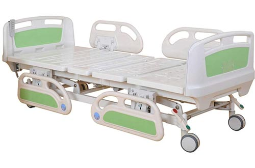 Hight Quality Medical Three Function Electric Hospital Bed for Patients - for Home Care and Medical Equipment- Easy to Transport Casters