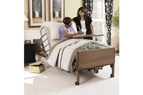 Invacare 5410IVC, 6629, 5185 5410IVC Full Electric Homecare Bed with Innerspring Mattress 5185 and Full Rails 6629