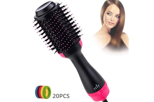 Hot Air Brush, Hair Dryer Brush, One Step Hair Dryer and Volumizer for Straightening or Curling, Hair Straightener, Curl Brush