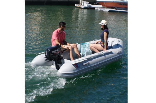 """INMAR 9'0"""" Dinghy Tender Inflatable Boat - 270H-TS - 3 Passenger Grey Boat Inflatables"""