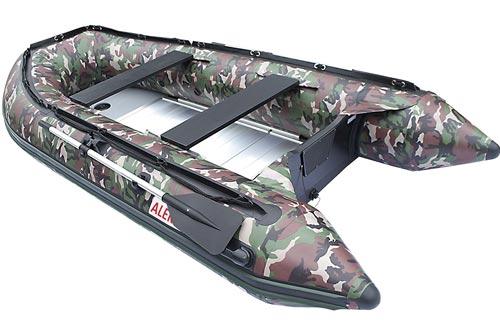 ALEKO Inflatable Boat with Aluminum Floor Heavy Duty Design Raft Sport Motor Fishing Boat 3 Keel Air Chambers
