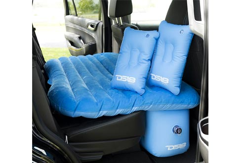 DS18 AUTO-MAT/BL Blue Multifunctional Pet Friendly Mattress Inflated Bed Cushion Camping Universal SUV Car Back Seat