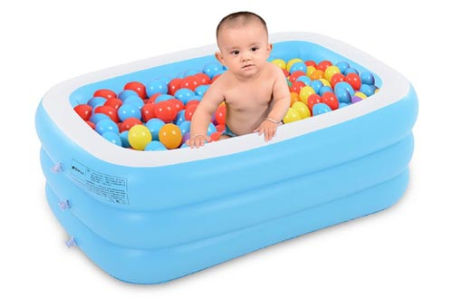"""Inflatable Swimming Pool Swim Center 51"""" X 35"""" X 20"""" Inflatable Pool Fun Backyard Outdoor Toy for Kids"""