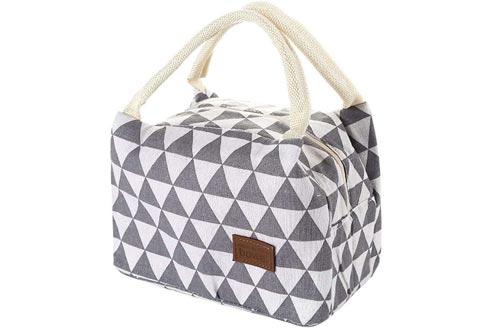 Insulated Lunch Bag,Vanvler Bottle Thermal Cooler Bag Canvas Food Box Tote for Women Kids