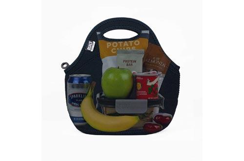 BUILT LB31-BLK Gourmet Getaway Soft Neoprene Lunch Tote Bag