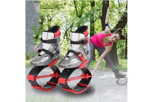 Alomejor Jumping Shoes Sports Kangaroo Boots Fitness Bouncing Shoes Kids Children Exercise Trainning Toys