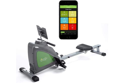 ShareVgo Smart Rower Folding Magnetic Rowing Machine with Free APP for Indoor Full Body Workout Log and Performance Track, Bluetooth LCD Monitor & Tablet Holder