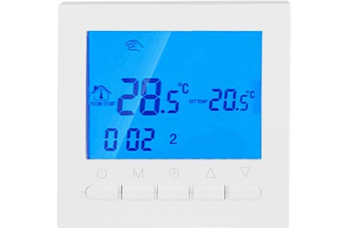 WiFi Thermostat, Programmable Wireless Thermostat or Wi-Fi Thermostat, Digital Smart Thermostat Control Motorized Valve, Thermal Valve and Electric Heating