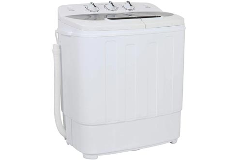 ZENY Portable Mini Twin Tub Washing Machine 13lbs Capacity with Spin Dryer,Compact Cloths Washing Machine Lightweight Small Laundry Washer for Home