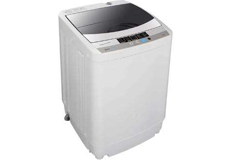ZENSTYLE Full-Automatic Multifunctional Washing Machine Portable Compact 10 LB Top Load Laundry Washer/Spinner w/Drain Pump