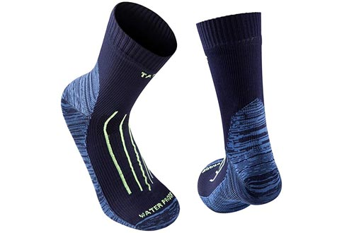 Tanzant Waterproof socks trekking, high performance lightweight breathable waterproof socks for men hiking cycling kayaking
