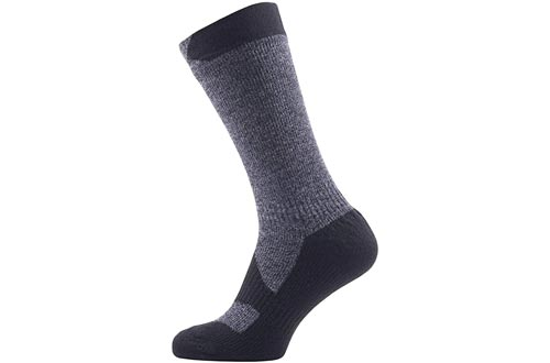 SEALSKINZ 100% Waterproof Sock - Windproof & Breathable - Mid length