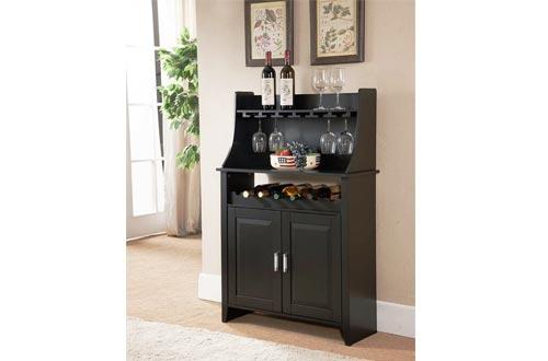 Kings Brand Furniture Wood Wine Rack Buffet & Storage Cabinet