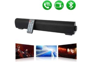 Soundbar Wired and Wireless Bluetooth Speaker, Home Theater TV Stereo Sound bar Built-in Subwoofers for TV/PC/Phones/Tablets with Remote Control