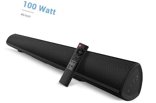 100Watt 40 Inch Soundbar, Bestisan Sound Bar Wireless and Wired Audio Bluetooth 5.0 TV Speakers with Bass Adjustable