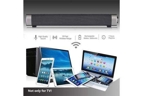 [New 2020 Upgraded] Sound Bar Wired and Wireless Bluetooth Home Theater TV Stereo Speaker with Remote Control,TF Card-Surround SoundBar TV/Cellphone/Tablet
