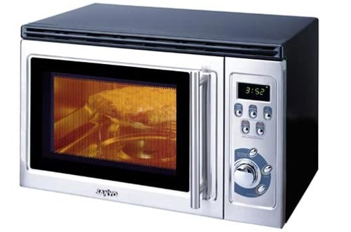 Sanyo EM-Z2100GS Microwave Oven with Built-In Grill, Black and Stainless Steel