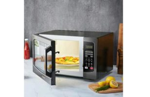 Toshiba EM131A5C-BS Microwave Oven with Smart Sensor, Easy Clean Interior, ECO Mode and Sound On/Off