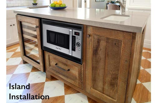 "3 in 1 Oven : 24"" Built In Convection Microwave Oven w/Black Trim Kit Included. For Home & RV, 2 Year Manufacturers Warranty"