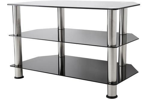 AVF SDC800-A TV Stand for Up to 42-Inch TVs, Black Glass